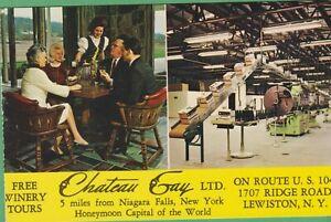 Vintage-New-York-NY-Postcard-Chateau-Gay-Ltd-Near-Niagara-Falls-Lewiston