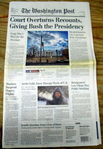 2-2000-Washington-Post-headline-newspapers-GEORGE-W-BUSH-WINS-ELECTION-President