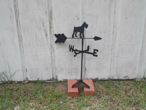 schnauzer weathervane black wrought iron look roof mount made in usa TLS1035RM