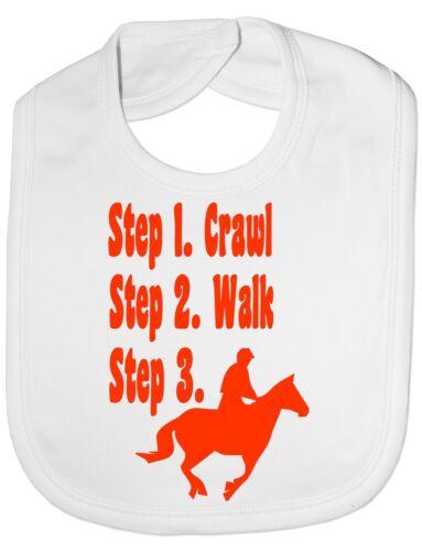 Stufen Wird a Pferd Reiten Baby Fütter Lätzchen