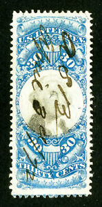 US-Stamps-R113-Revenue-XF-Choice-Used-Scott-Value-175-00
