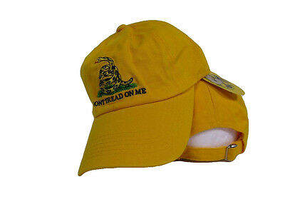 RUF Embroidered Washed Beige Khaki Gadsden Tea Party Don/'t Tread On Me Hat Cap