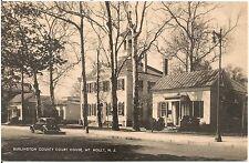Burlington County Court House in Mt. Holly NJ Postcard