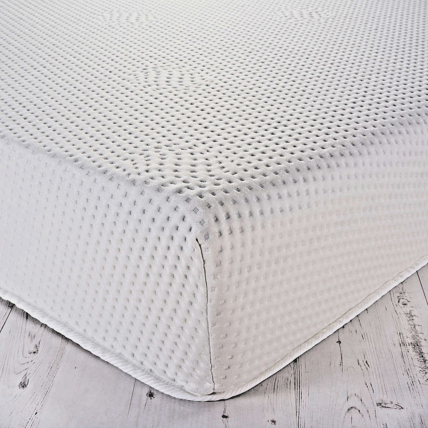 COOL TOUCH MEMORY FOAM MATTRESS TOPPERS WITH ZIPPED COVER EASY TO REMOVE & WASH