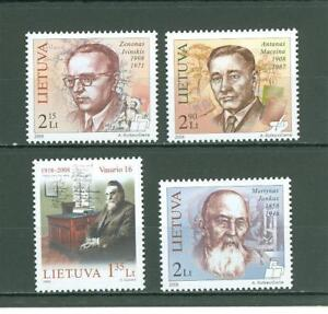 Lithuania F53 MNH 2008 4v Historical Persons