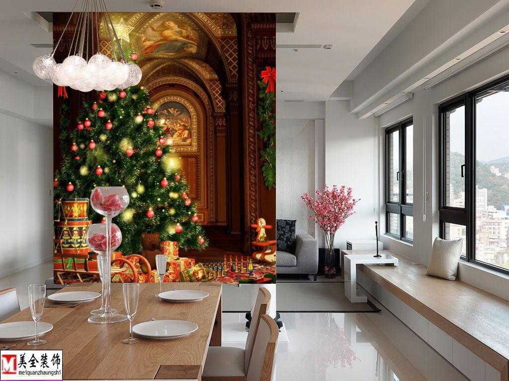 3D Weihnachtsbaum Kirche 73 Tapete Wandgemälde Tapete Tapeten Bild Bild Bild Familie DE | Günstige Preise  | Ein Gleichgewicht zwischen Zähigkeit und Härte  | Deutschland Frankfurt  37cd62