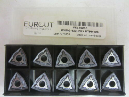 DoAll WNMG 432-IPK DTPM126 VEL10250 Carbide Inserts NIB Eurcut 10