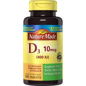Best Tablet 2020 Under 100 Nature Made Vitamin D3 400 IU 10mcg Tablets 100 Tablets 2020 and