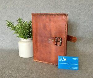 Leather-Book-Cover-A5-Goat-BCDA5-Compendium-Folder-Diary-Kindle-iPad-Mini-Tablet