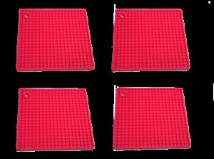Pink TOPFUNTERSETZER SILIKON 4 STÜCK Topflappen 4er Set Extrem Hitzebeständig