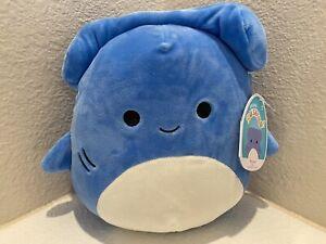 "Squishmallow 8"" Rocket Shark Blue Hammerhead Soft Plush FREE SHIP 734689410590"