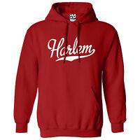 Harlem Script & Tail Hoodie - Hooded School Sports Team Sweatshirt - All Colors