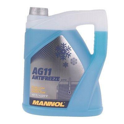 Kühlerfrostschutz Blau 5 Liter Mannol Longterm Antifreeze AG11 -40°C Kühlmittel