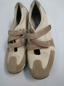 lizsport-Liz-claiborne-leather-Tennis-Shoes-Beige-Tan-Size-9-M-Women-039-s-Shoes-New