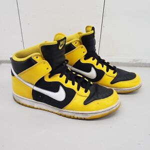 hot sale online b926d 8d0ab Details about 2006 NIKE DUNK HIGH MAIZE YELLOW WHITE BLACK WU-TANG  GOLDENROD 309432-711 sz 13