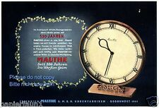 Mauthe Uhr Reklame Winter 1944 Jubiläum 100 Jahre Uhren Werbung Schwenningen +