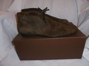 cute cheap buy online 50% off LOUIS VUITTON MEN BROWN SUEDE LACE UP ANKLE BOOT SIZE UK 8.5 EU ...