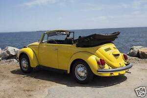 Image Is Loading 1971 Volkswagen Beetle Convertible Vw Cabriolet Yellow Refrigerator