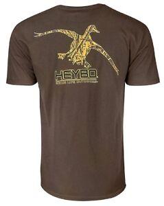 2c5ed8d97 Heybo Camo Duck Realtree Camo SS Chocolate Brown T-Shirt CHOOSE YOUR ...