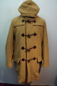 VINTAGE-MAN-039-S-BARBOUR-WOOL-CASHMERE-DUFFLE-HOODED-COAT-SIZE-M