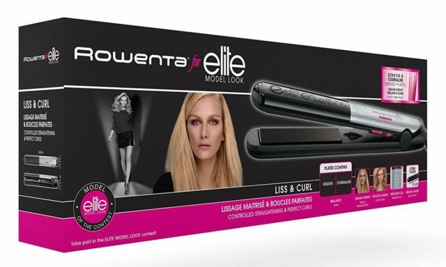 Rowenta Liss & Curl SF4522E0  Plancha de pelo recubrimiento de keratina y 2 en 1