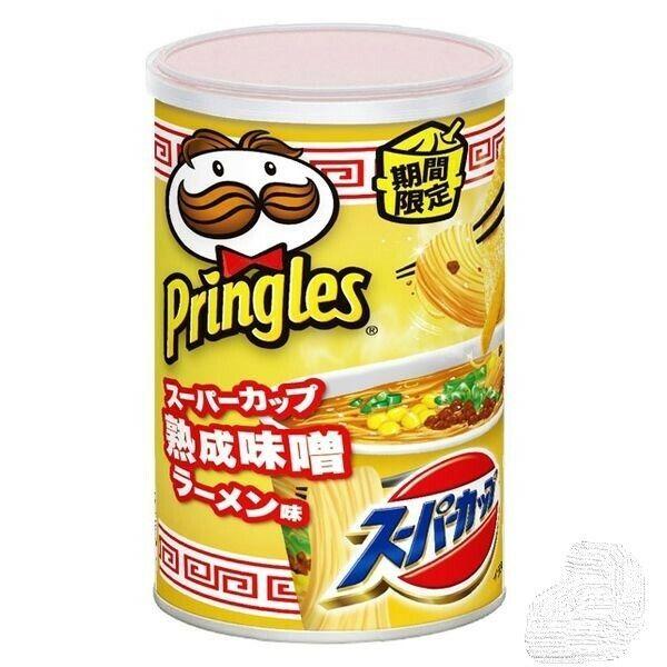 Acecook PRINGLES Supercup Aged Miso Ramen Potato Chips Crisps Japan Limited NEW