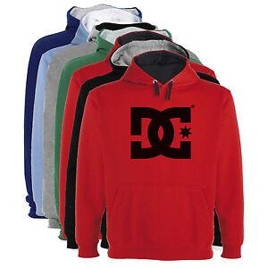 Sudadera-Capucha-Bicolor-DC-logo-Hombre-colores-y-tallas