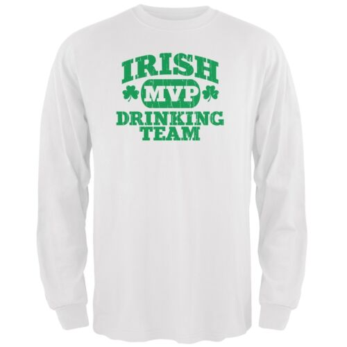 Irish Drinking Team White Adult Long Sleeve T-Shirt