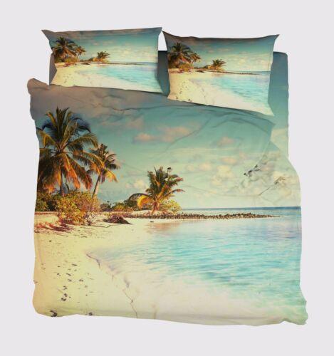 3D Tropical Beach 6 Bed Pillowcases Quilt Duvet Cover Set Single Queen King AU