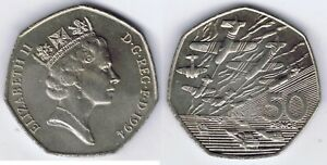 D-DAY-WHOLESALE-10-UNC-COINS-of-BRITAIN-KM-96-WWII-MILITARY-BOATS-amp-PLANES