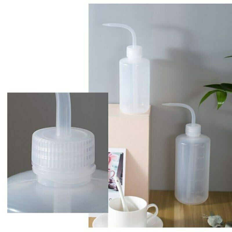 250/500ml Squeeze Curved Transparent Water Bottle Spray Plants Flower Watering