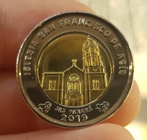 B-d-m Panamá 1 Balboa Iglesia San Fco. De Asís 2019 Km Nuevo Bimetálica Sc Unc Du5elu5p-08005644-667077475