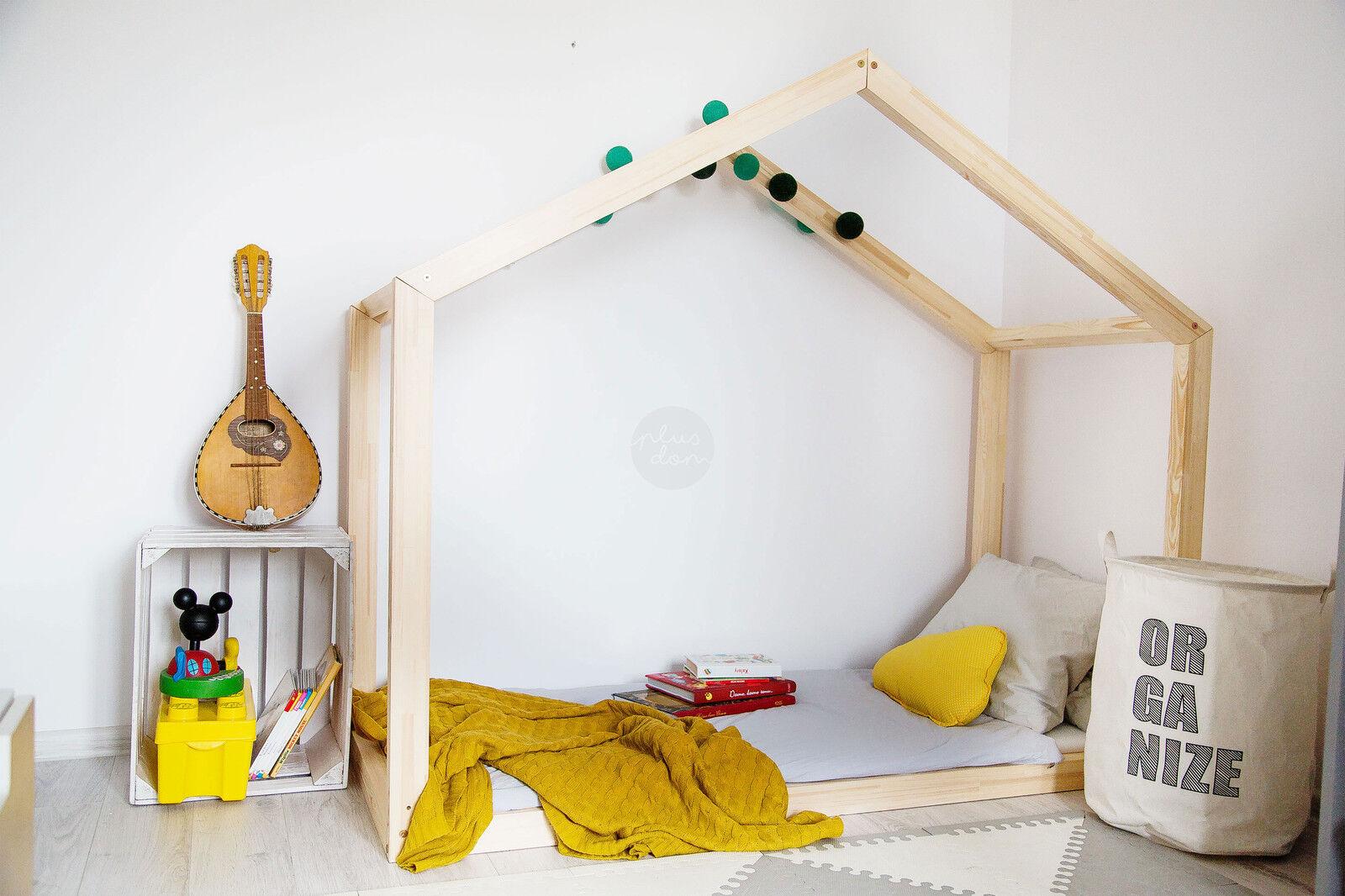 Lit enfant-Maison en bois Lit pour enfants Talo d8 120x200 cm
