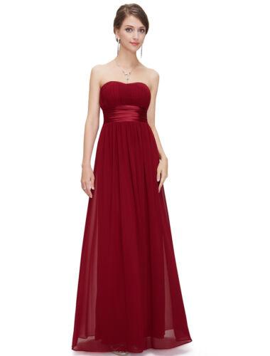 Chiffon Woman Strapless Long Bridesmaid Dresses Homecoming Prom Party Dress