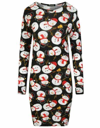Women Ladies Xmas Mummy/'s Christmas Pudding Maternity Stretch Bodycon Midi Dress