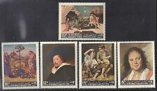 Kingdom of Yemen 1967 Great Painters Rubens Murillo Hals Raphael Ucello MNH Set
