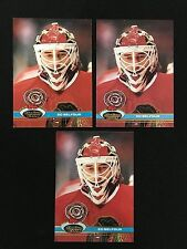 3 ED BELFOUR ROOKIES RC CHICAGO BLACKHAWKS 1991 STADIUM CLUB TOPPS HOCKEY CARDS