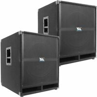 Pair Of Seismic Audio 18 Pa Powered Subwoofer Active Speakers 500 Watts Each on sale
