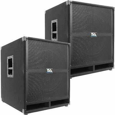 """Pair of SEISMIC AUDIO 18"""" PA POWERED SUBWOOFER Active Speakers 500 Watts Each"""
