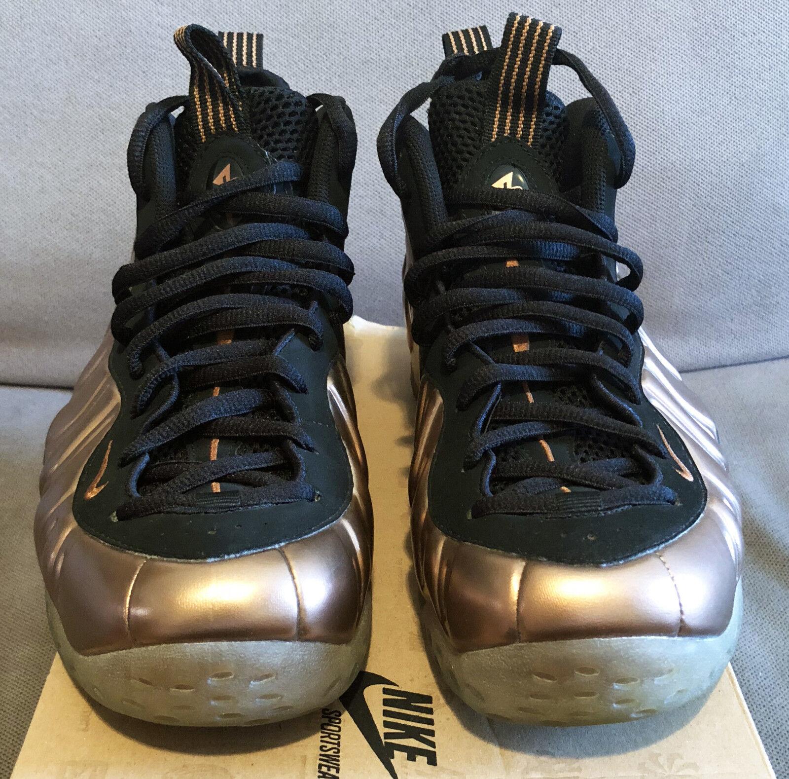 2010 Nike Air Foamposite One Black Metallic Copper sz 9 314996 081