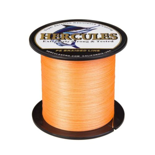 Hercules Orange 4 Fach Je 300M 1000M Schnüre PE Stärken Geflochtene Angelschnur