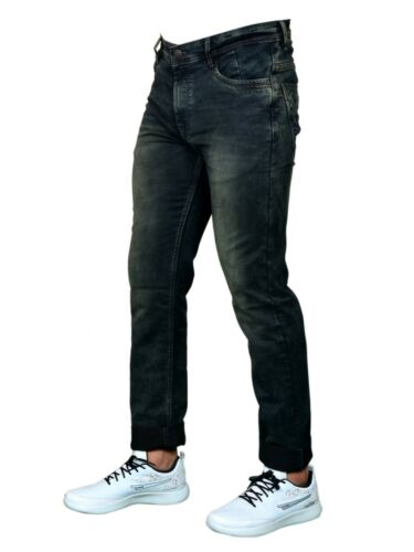 FREE RETURN BURK HEDGES by SEGA Regular Men/'s Black Jeans Faded Italian Design