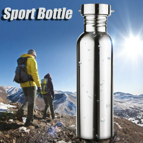 Stainless Steel Wide Mouth Sports Water Cup Outdoor Cycling Hiking Bottle d