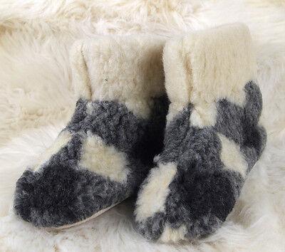 b9cd9e6048d5d Size UK 12 - SQUARES - MEN'S MERINO WOOL BOOTS WARM SLIPPERS MOCCASINS  CHUNI | eBay