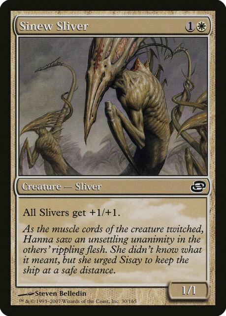 SINEW SLIVER Planar Chaos MTG White Creature — Sliver Com