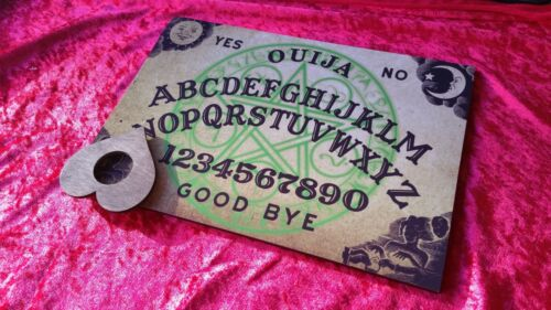Wooden Ouija Board game /& Planchette Instructions Spirit hunt Magick Ghost magic
