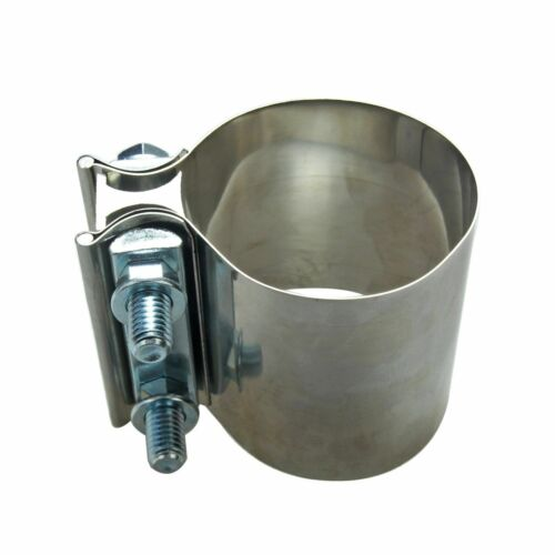 """2.25/"""" 2 1//4/"""" Stainless Steel Butt Joint Band Exhaust Clamp Sleeve Coupler T304"""