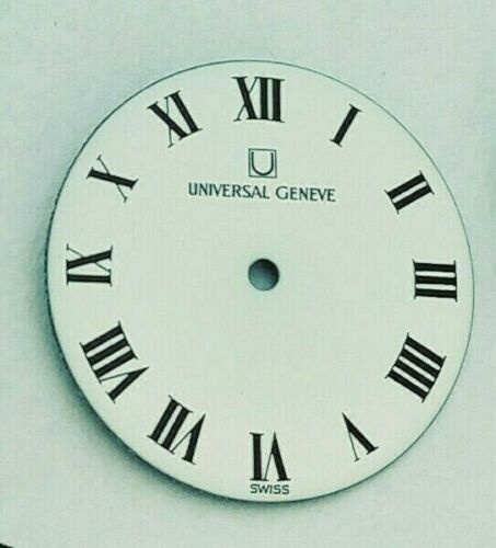 Details about  /CLASSIC UNIVERSAL GENEVE 22 MMS LADIES WHITE ROMAN DIAL VINTAGE REPLACEMENT