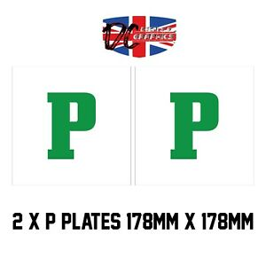 Motorcycle Motobike Scooter Moped Car Learner Adhesive Sticky L-Plate Plates