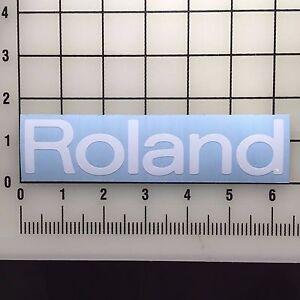 Roland-Logo-6-034-Wide-White-Vinyl-Decal-Sticker-BOGO